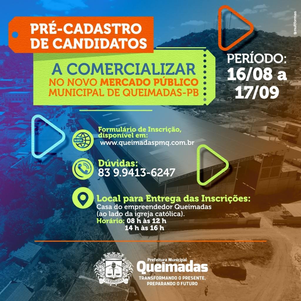 PRE-CADASTRO MERCADO PUBLICO