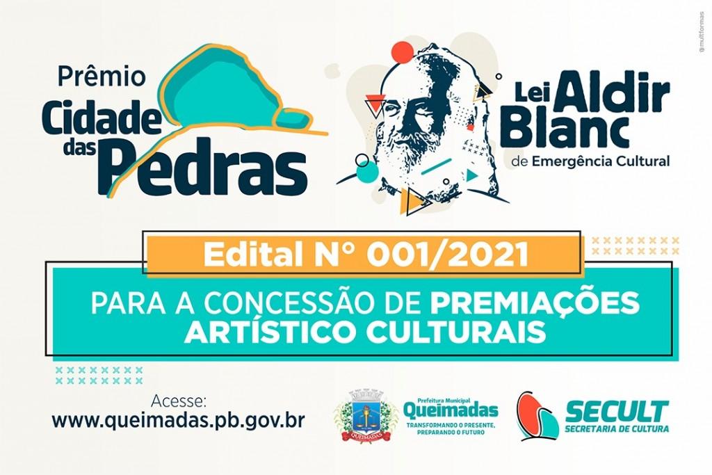 Lei Aldir Blanc: Prefeitura de Queimadas lança Prêmio Cidade das Pedras para concessão de premiações artístico culturais