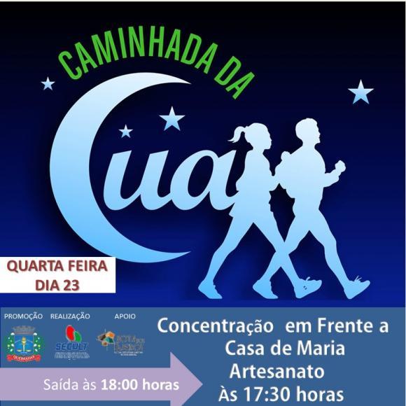 Secult de Queimadas/PB realiza 1ª Caminhada da Lua 2019 nesta quarta-feira