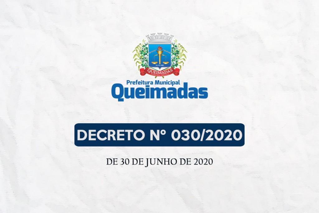 Prefeitura de Queimadas renova validade das regras para o comércio e prorroga período de suspensão das aulas presenciais