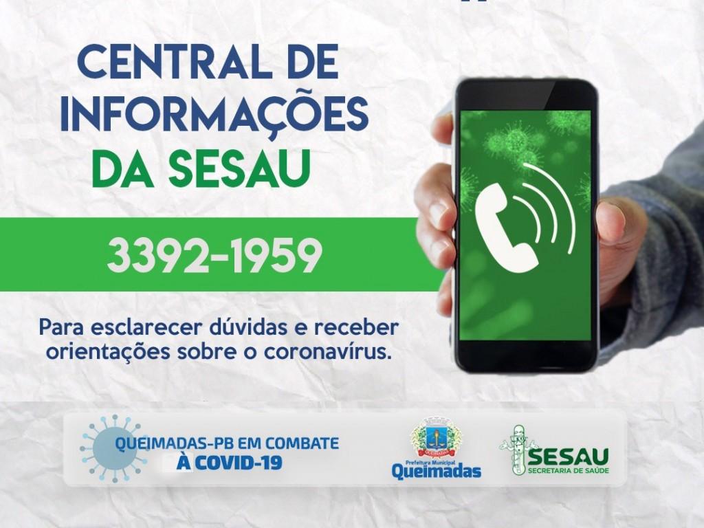 Prefeitura de Queimadas mantém diversos canais de atendimento à população para enfrentamento da pandemia