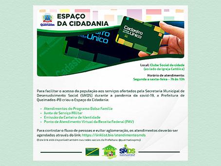 Prefeitura implanta Espaço da Cidadania para facilitar o acesso da população aos atendimentos sociais