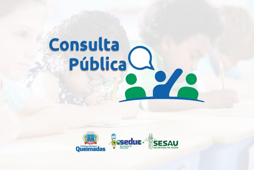 Prefeitura de Queimadas abre Consulta Pública sobre o retorno das aulas presenciais
