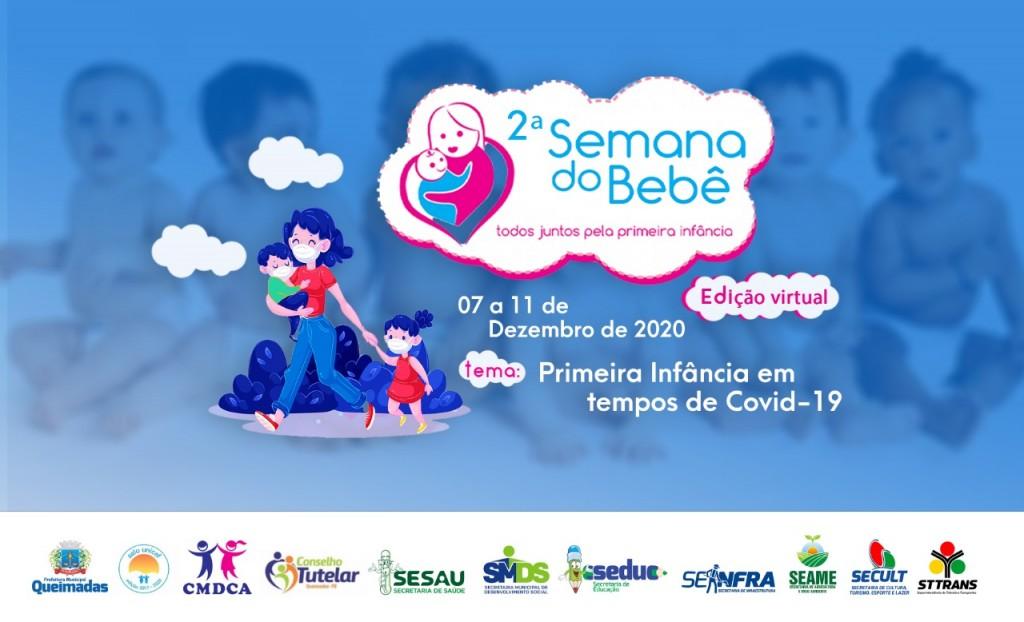 Prefeitura realizará edição virtual da Semana do Bebê com temática sobre a primeira infância em tempos de covid-19