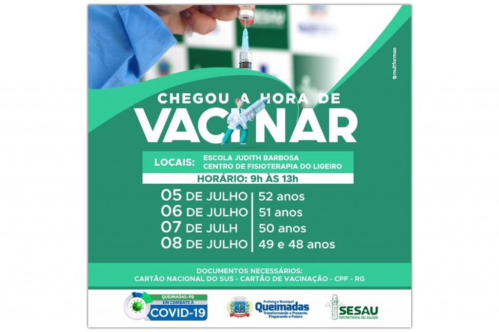 Cronograma de vacinação contra a covid-19