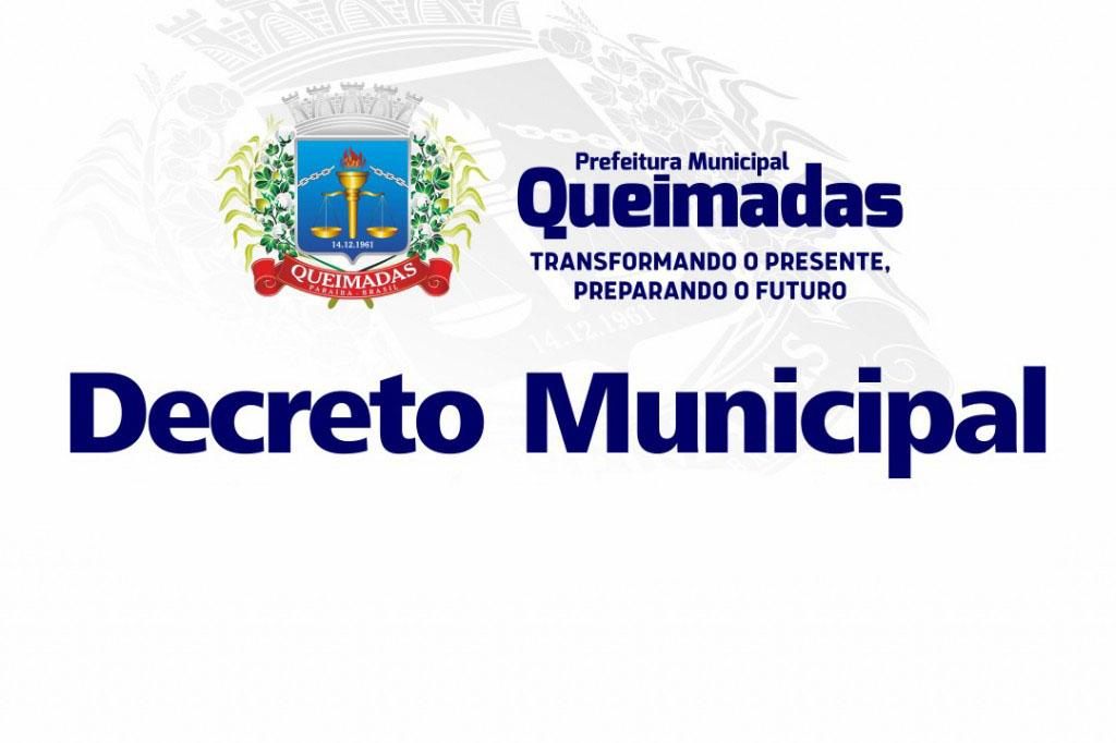 Prefeitura de Queimadas adota as recomendações do novo decreto estadual para enfrentamento à pandemia