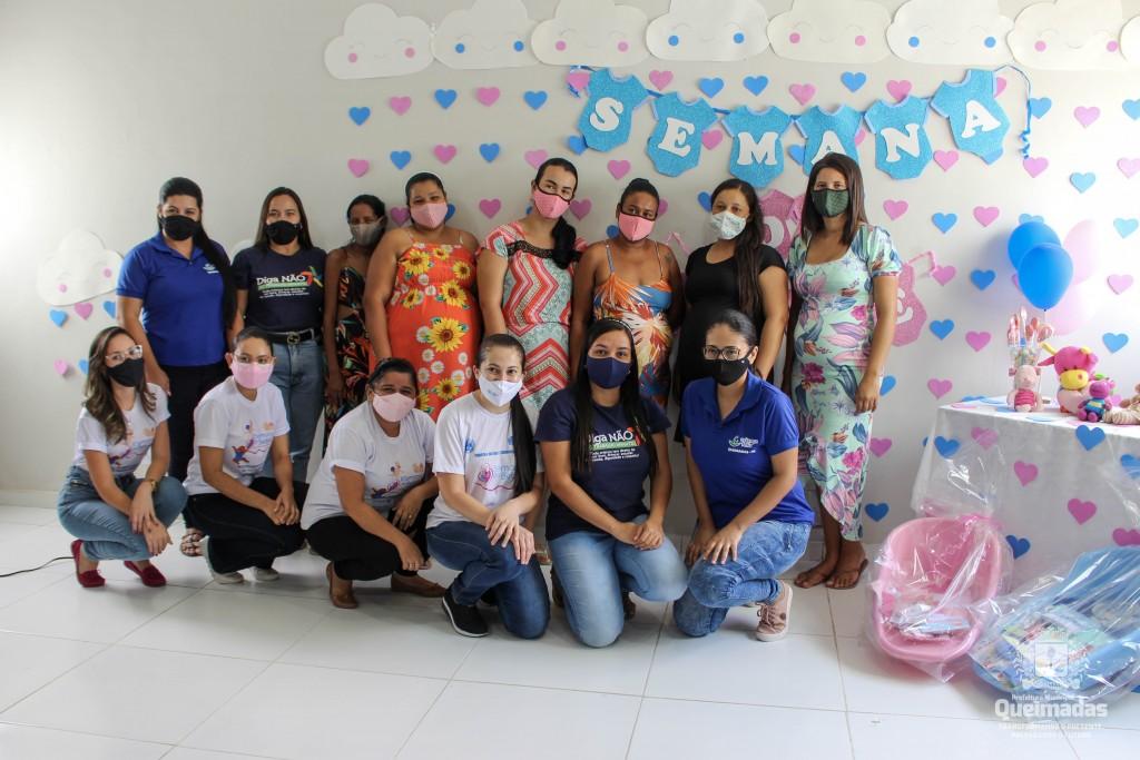 CRAS realiza roda de conversa sobre cuidados com os bebês para grupo de gestantes