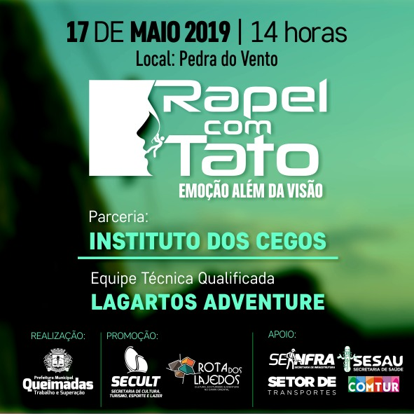 "Secult realiza evento ""Rapel com Tato"" para deficientes visuais"