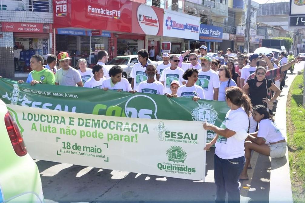 Caps Queimadas realiza semana de atividades pela luta antimanicomial