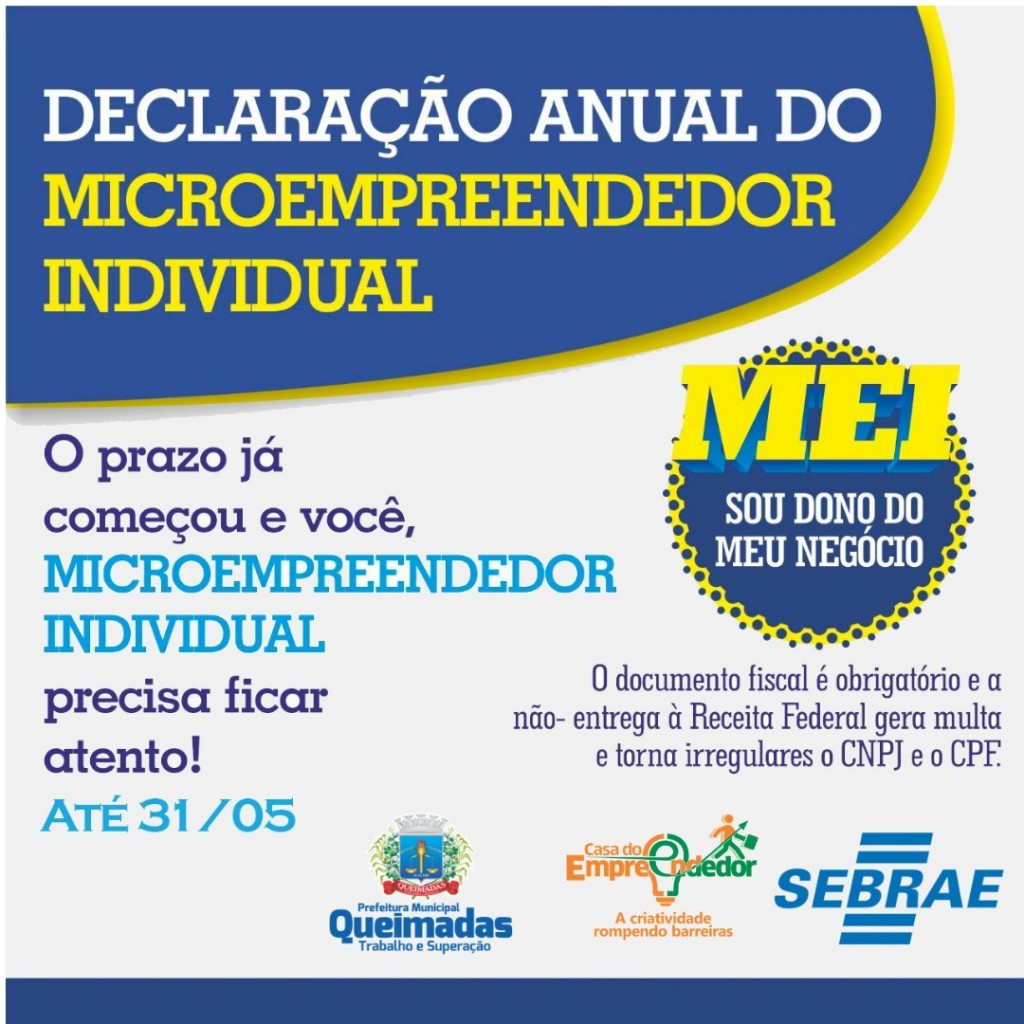 Declaração Anual do Microempreendedor Individual é feita gratuitamente na Casa do Empreendedor