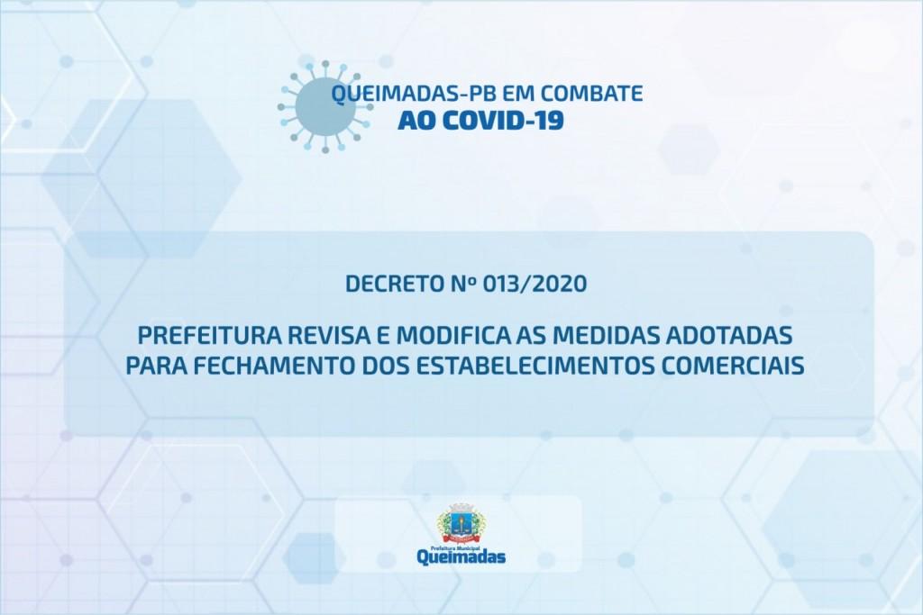 Em novo decreto, Prefeitura revisa e modifica as medidas adotadas para fechamento dos estabelecimentos comerciais