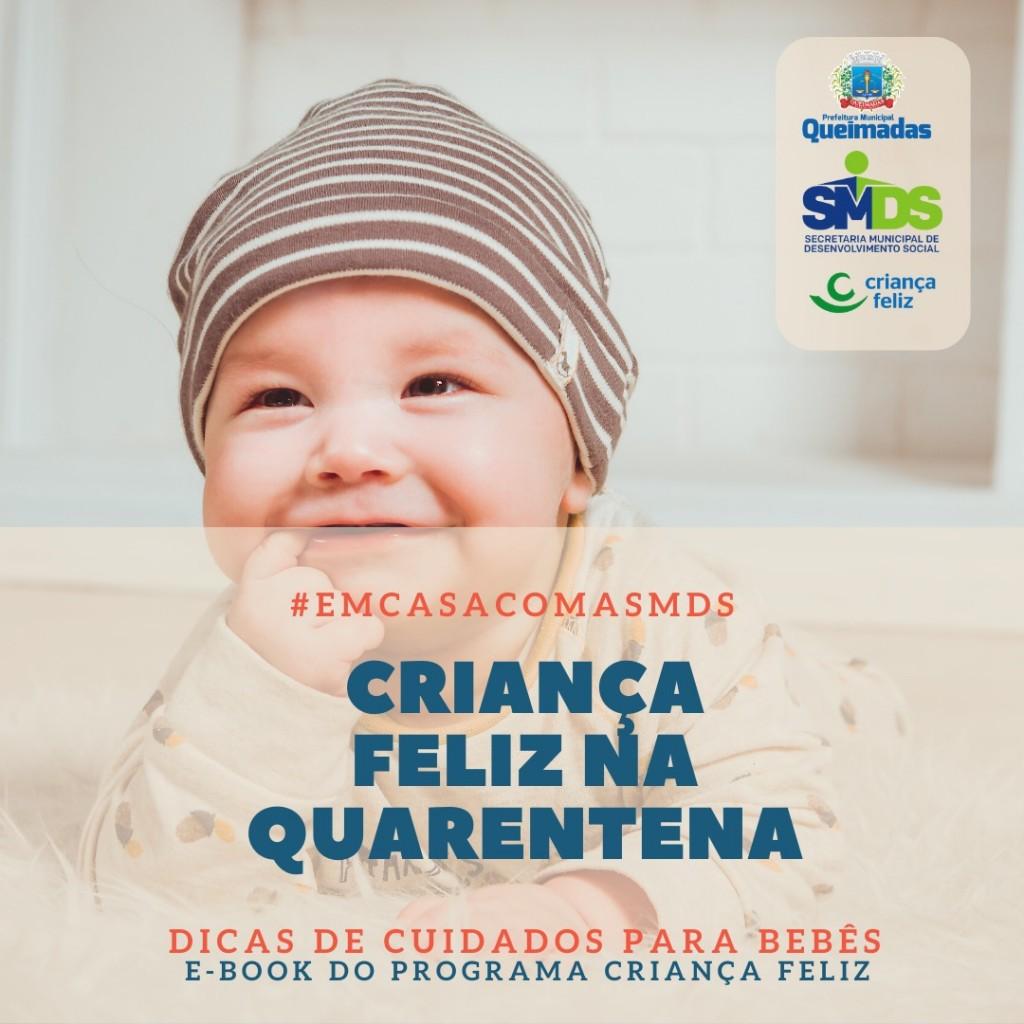 Programa Criança Feliz lança ebook com dicas de cuidados para bebês durante a quarentena