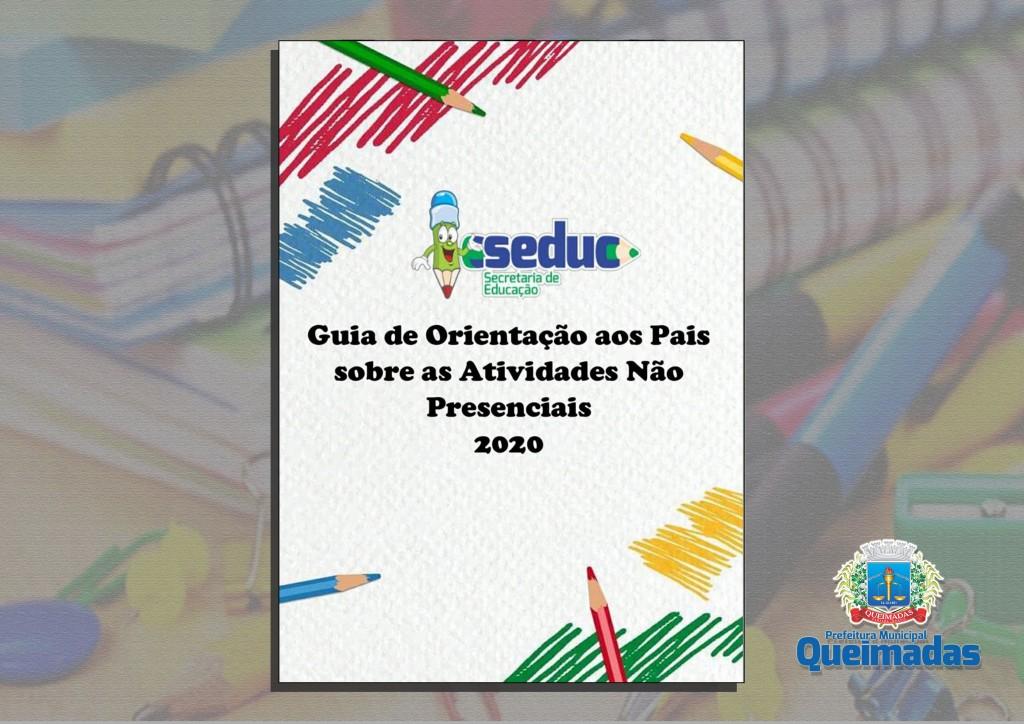 Secretaria de Educação divulga guia de orientação aos pais sobre as atividades não presenciais