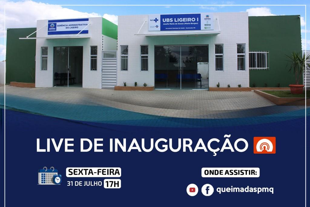 Prefeitura convida população para a live de inauguração da UBS Ligeiro I e da Gerência Administrativa do Ligeiro
