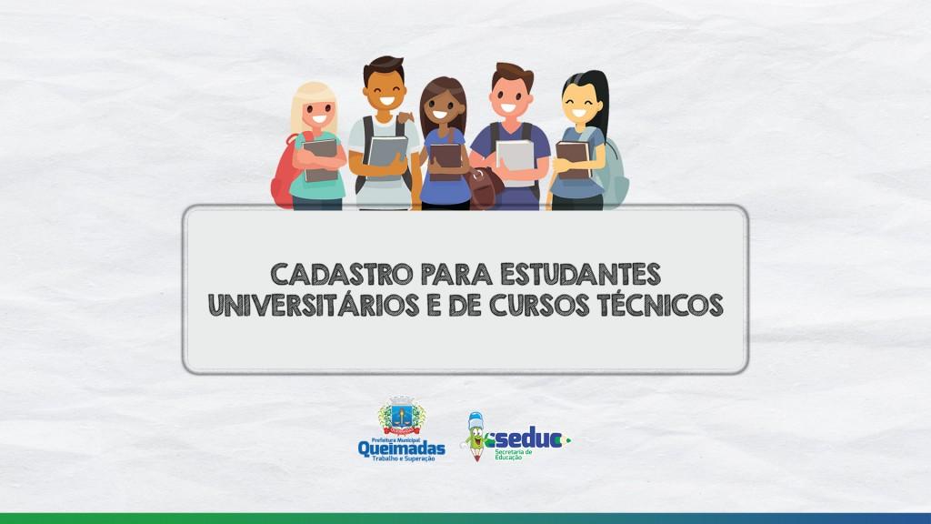 SEDUC e CAEQ iniciam cadastro de estudantes universitários e de cursos técnicos que o utilizam o transporte escolar