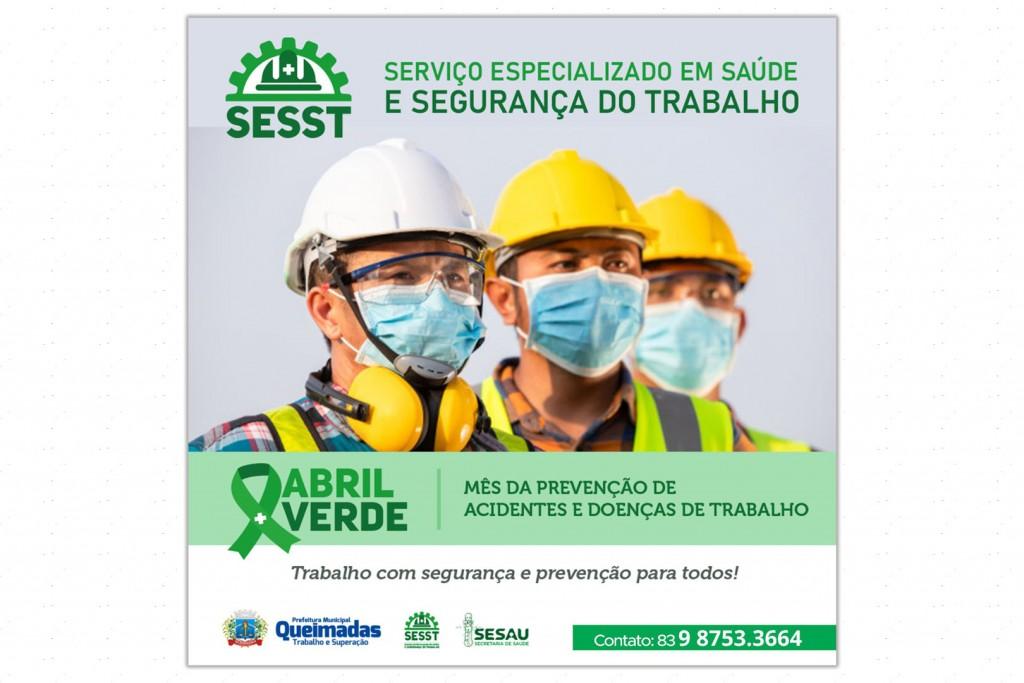 Abril Verde: Prefeitura de Queimadas inicia campanha voltada para prevenção de acidentes e doenças de trabalho