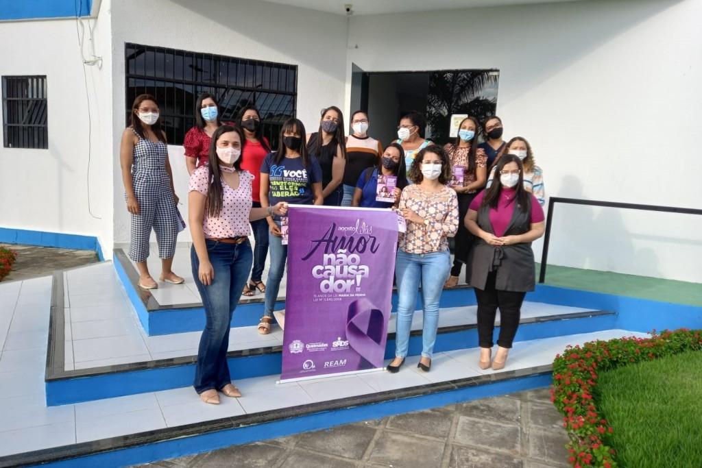 Rede de Atendimento à Mulher recebe equipe do Programa Integrado Patrulha Maria da Penha para compartilhar conhecimentos
