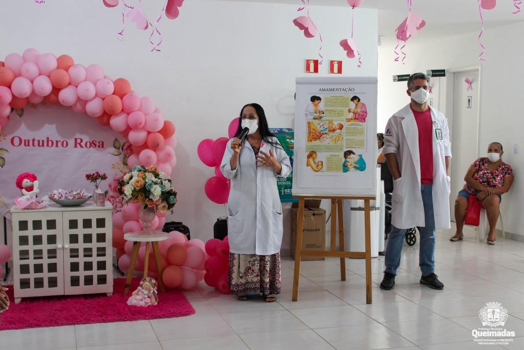 SESAU realiza abertura da campanha Outubro Rosa na Policlínica Municipal